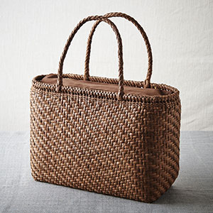山ぶどう籠バッグ 細編み網代編み