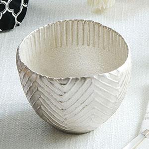 今井兵衛作 銀彩ゼブラ茶碗