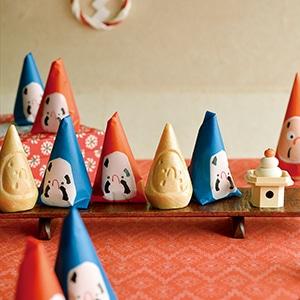 民芸菓子 三角だるま 15個入り