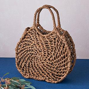 山ぶどう籠バッグ 蜘蛛の巣編み