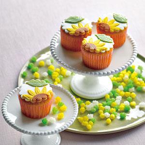 ひまわりのカップケーキと金平糖セット