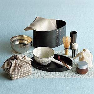 旅持ち茶箱 オーバルボックス黒