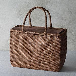 山ぶどう籠バッグ 細編み網代
