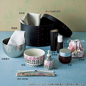 つちやまりさん オーバルボックス茶箱 ピンクD