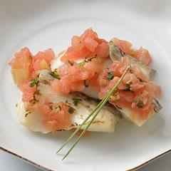 真鯛の塩麹漬け焼きトマトソースのイメージ